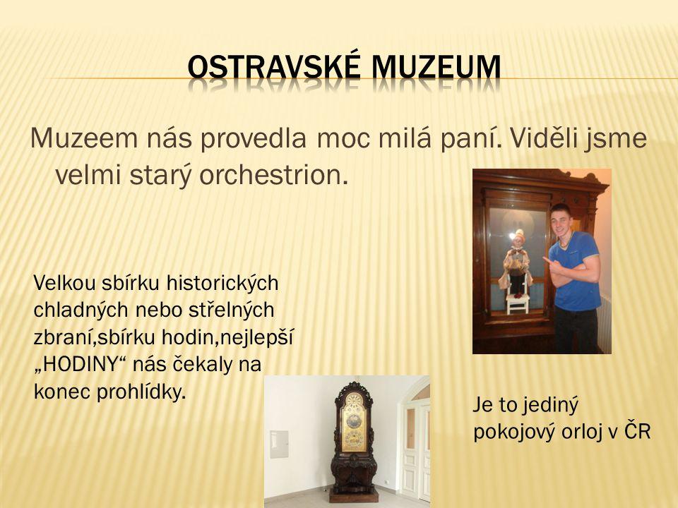 Muzeem nás provedla moc milá paní. Viděli jsme velmi starý orchestrion.