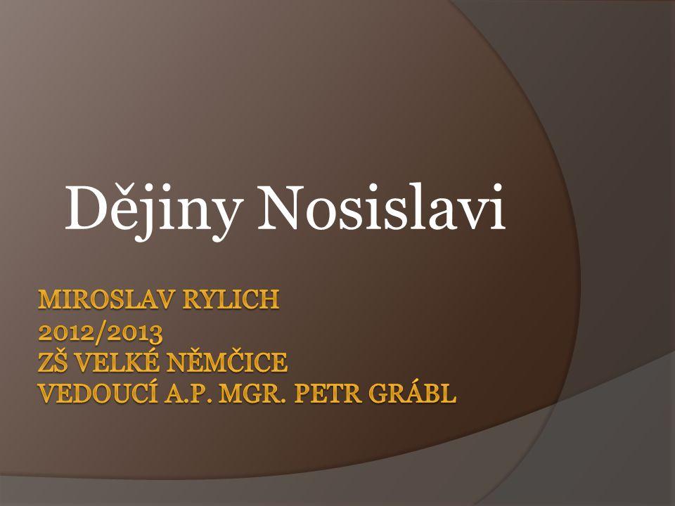 Dějiny Nosislavi