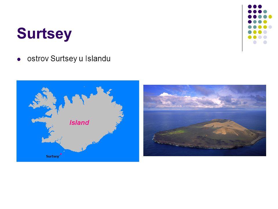 Surtsey ostrov Surtsey u Islandu