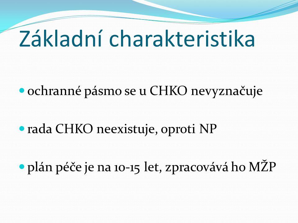 Ochranné zóny CHKO - území CHKO je rozděleno do 4 zón, odstupňovaná ochrana => 1.