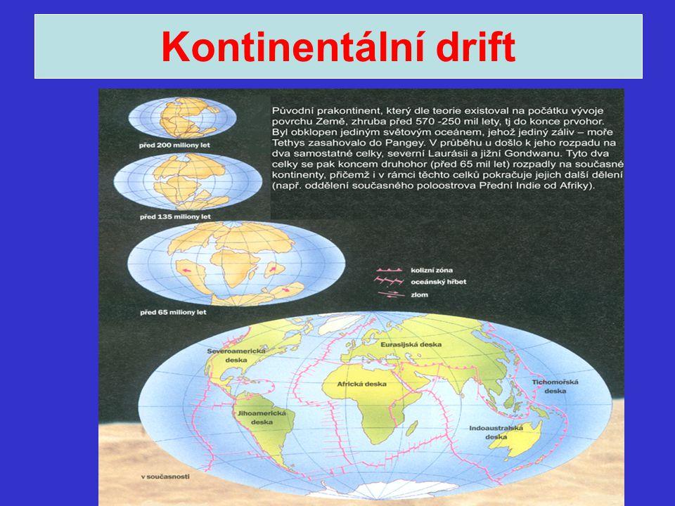 Litosférické desky Pacifická Kokosová Nasca Severoamerická Jihoamerická