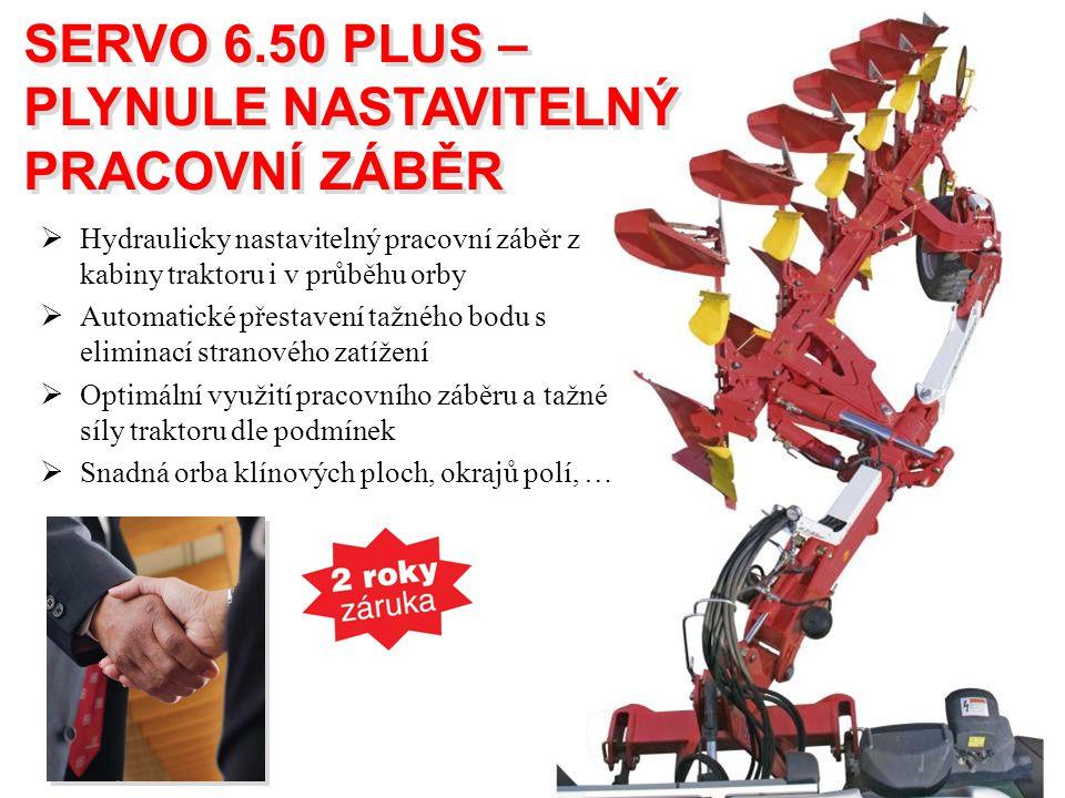 SERVO 6.50 PLUS – PLYNULE NASTAVITELNÝ PRACOVNÍ ZÁBĚR SERVO 6.50 PLUS – PLYNULE NASTAVITELNÝ PRACOVNÍ ZÁBĚR  Hydraulicky nastavitelný pracovní záběr