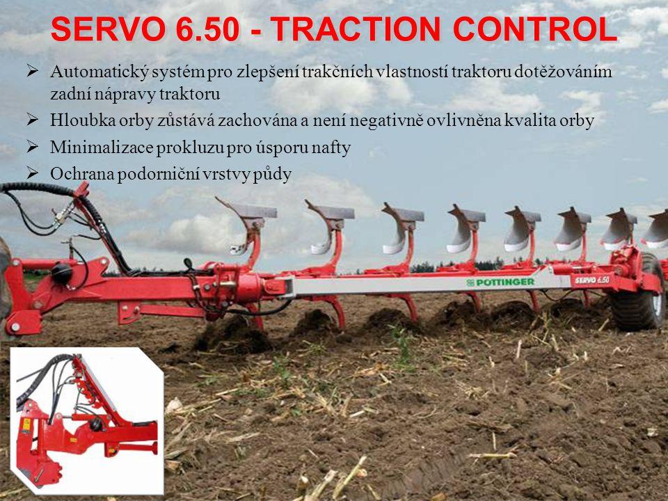  Automatický systém pro zlepšení trakčních vlastností traktoru dotěžováním zadní nápravy traktoru  Hloubka orby zůstává zachována a není negativně o