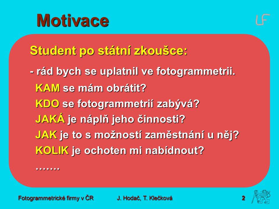 Fotogrammetrické firmy v ČR2 J. Hodač, T.