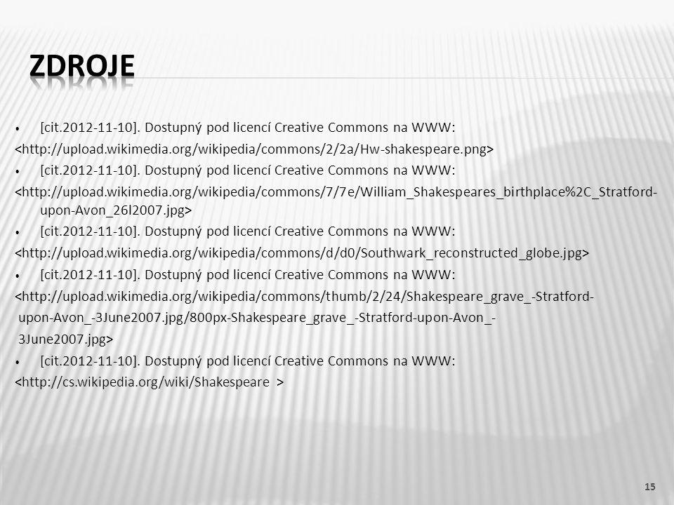 [cit.2012-11-10]. Dostupný pod licencí Creative Commons na WWW: [cit.2012-11-10]. Dostupný pod licencí Creative Commons na WWW: [cit.2012-11-10]. Dost