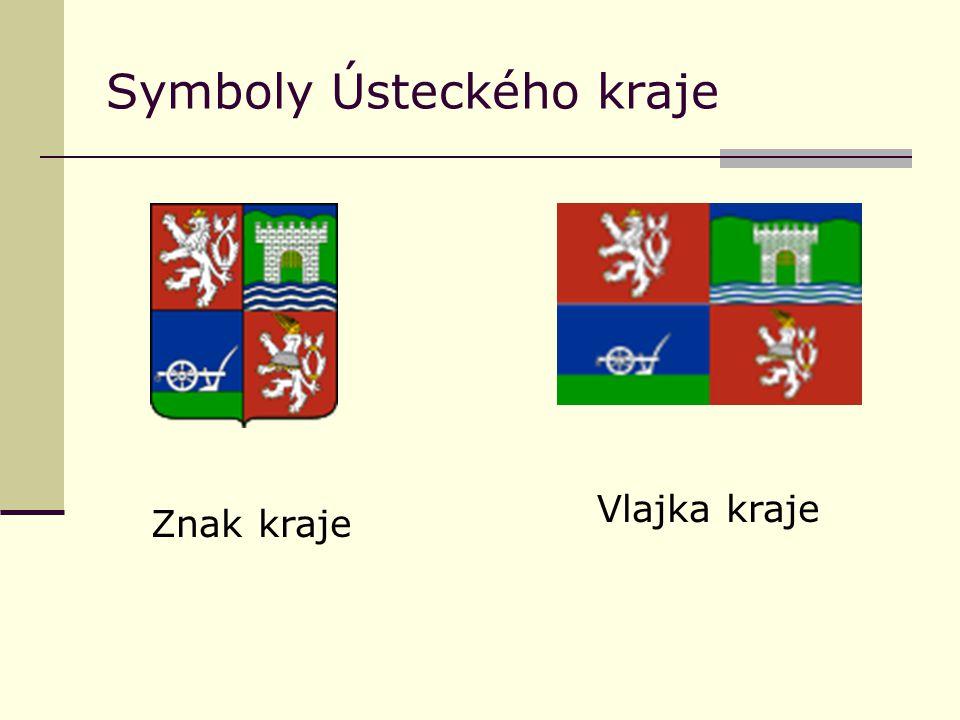 Symboly Ústeckého kraje Znak kraje Vlajka kraje