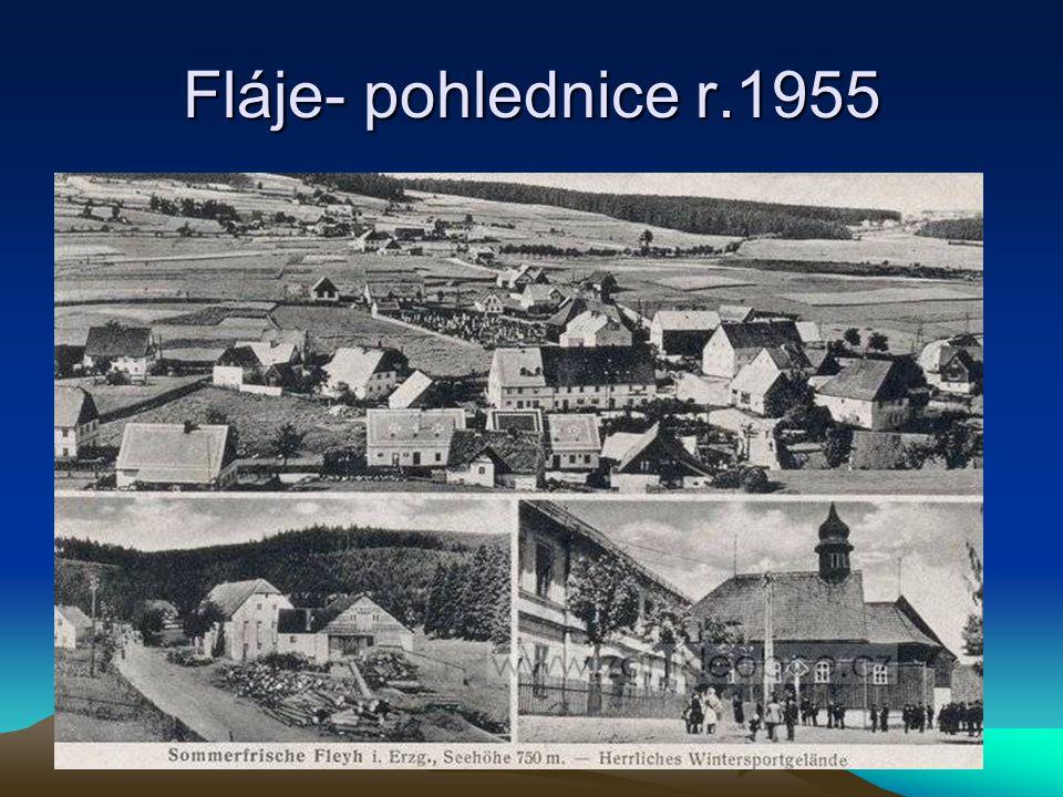 Fláje- pohlednice r.1955