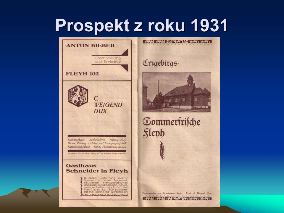 Prospekt z roku 1931