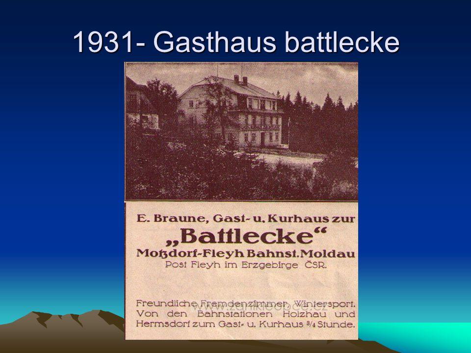 1931- Gasthaus battlecke