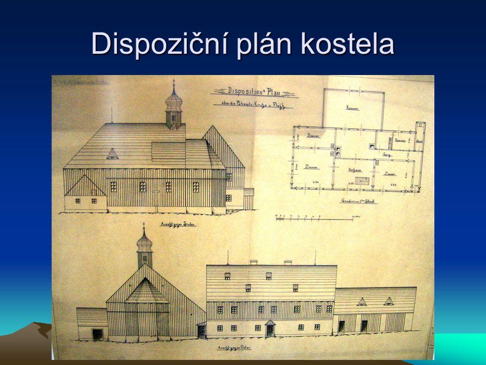 Dispoziční plán kostela