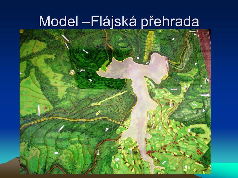 Model –Flájská přehrada