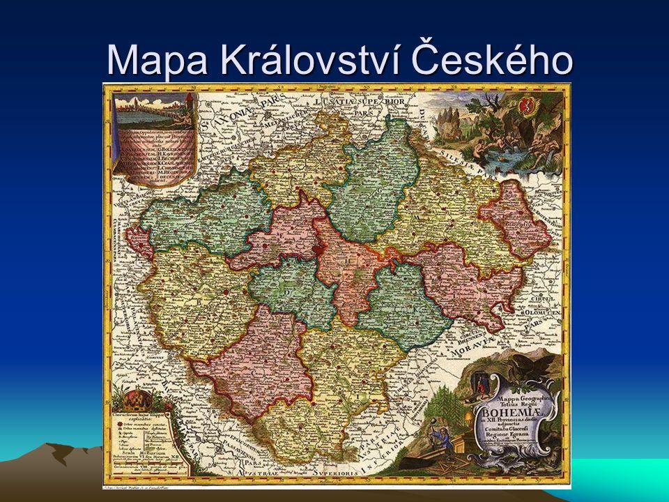 Mapa Království Českého Mapa Království Českého
