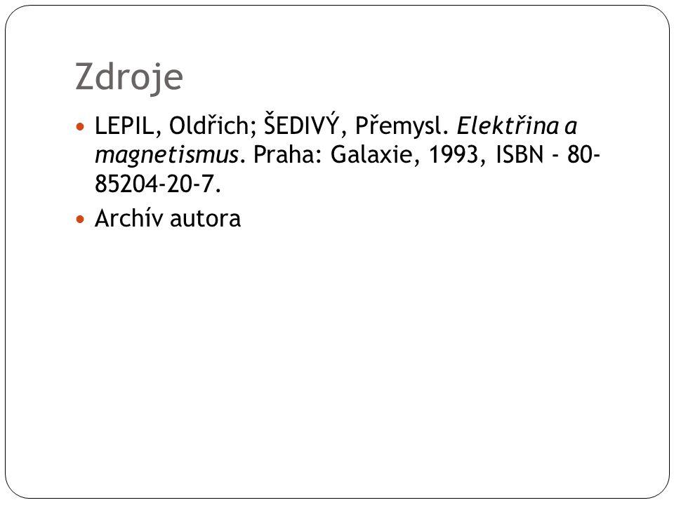 Zdroje LEPIL, Oldřich; ŠEDIVÝ, Přemysl.Elektřina a magnetismus.