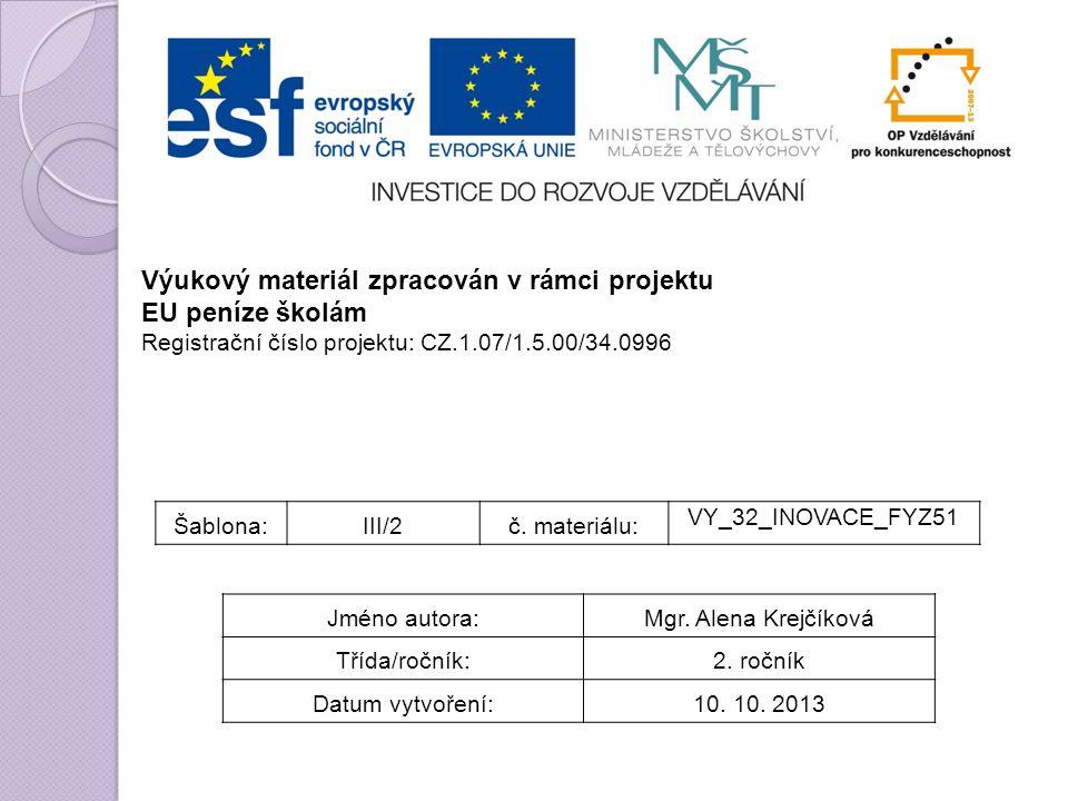 Šablona:III/2č. materiálu: VY_32_INOVACE_FYZ51 Jméno autora:Mgr.