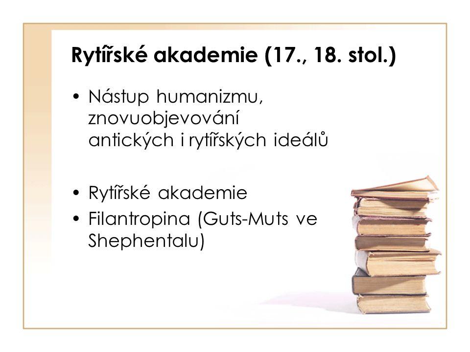 Rytířské akademie (17., 18.