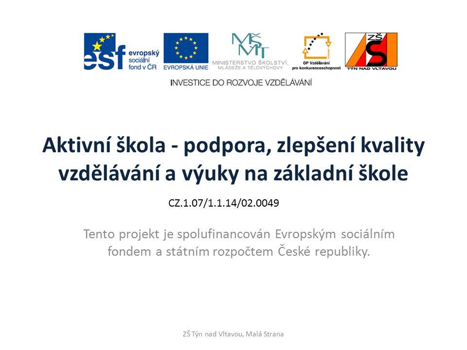 SmartArt karta Vložení – skupina Ilustrace - SmartArt ZŠ Týn nad Vltavou, Malá Strana