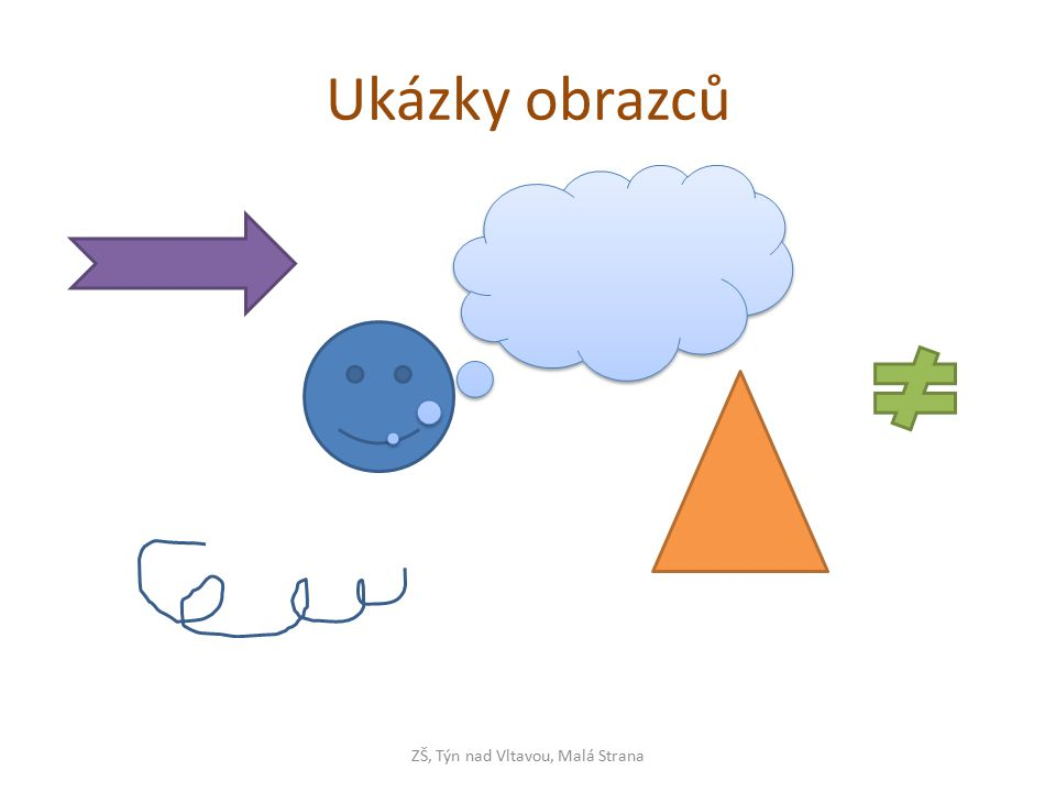 Změna tvaru - obrazce ZŠ, Týn nad Vltavou, Malá Strana tažením žlutého čtverečku