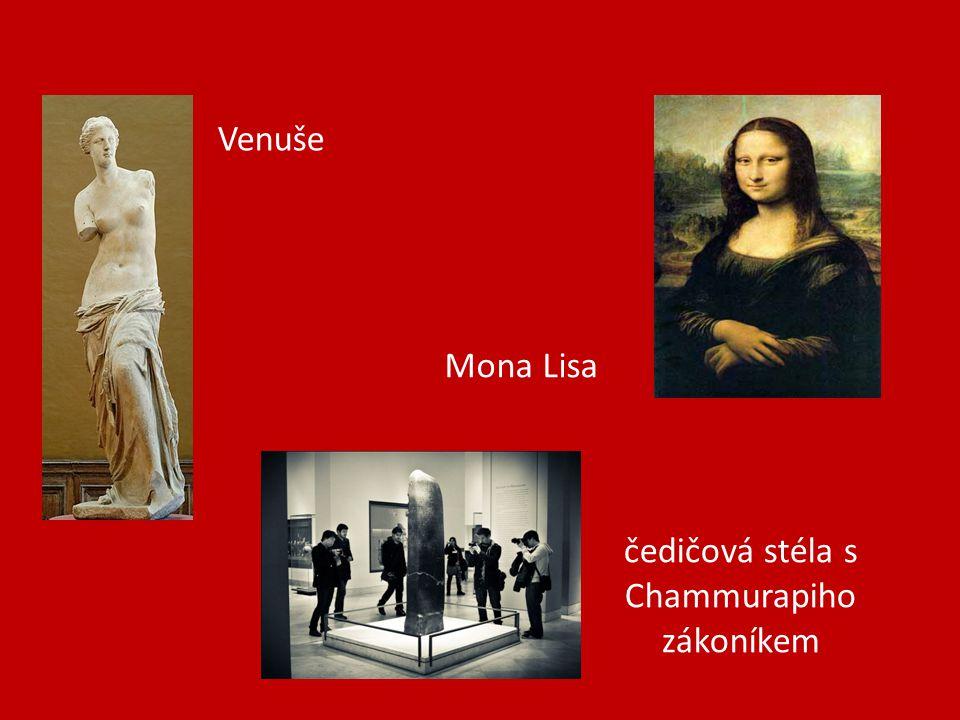 čedičová stéla s Chammurapiho zákoníkem Mona Lisa Venuše