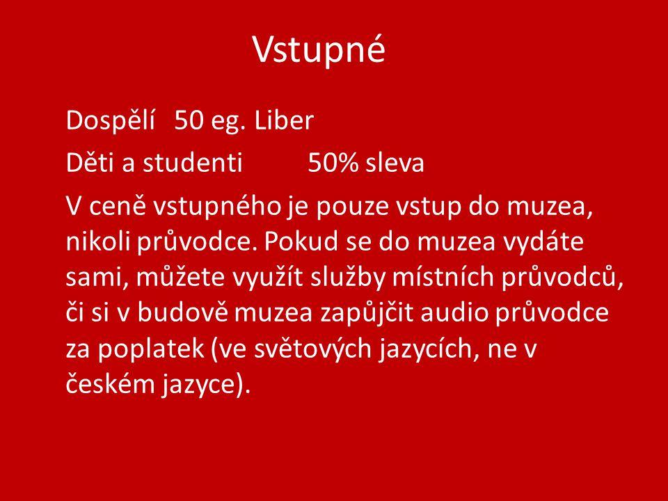 Vstupné Dospělí50 eg.