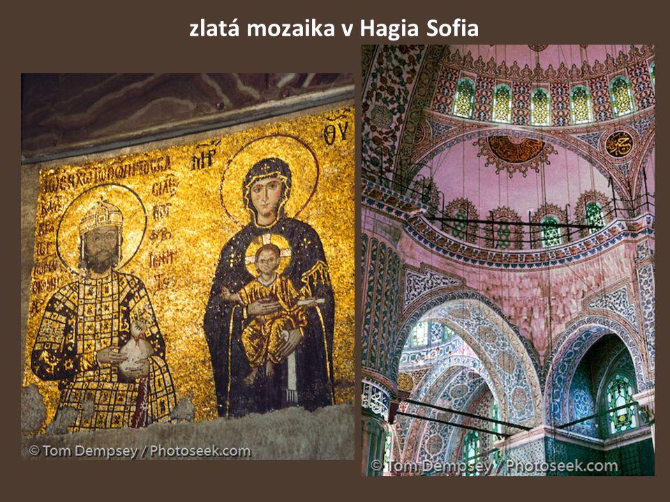 zlatá mozaika v Hagia Sofia