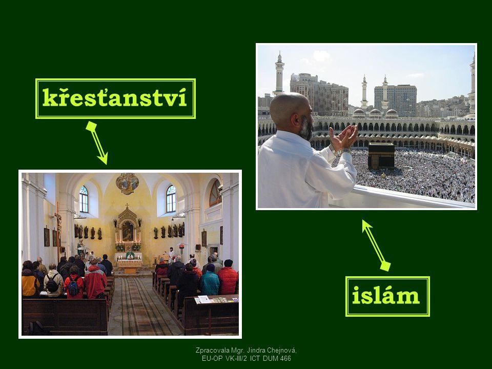 Ježíš Kristus Mohamed Zpracovala Mgr. Jindra Chejnová, EU-OP VK-III/2 ICT DUM 466