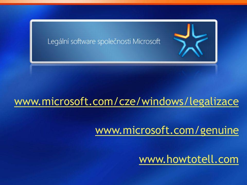 www.microsoft.com/cze/windows/legalizace www.microsoft.com/genuine www.howtotell.com