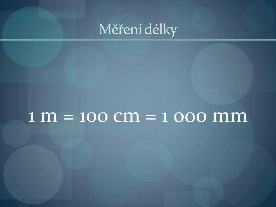 Měření délky 1 m = 100 cm = 1 000 mm