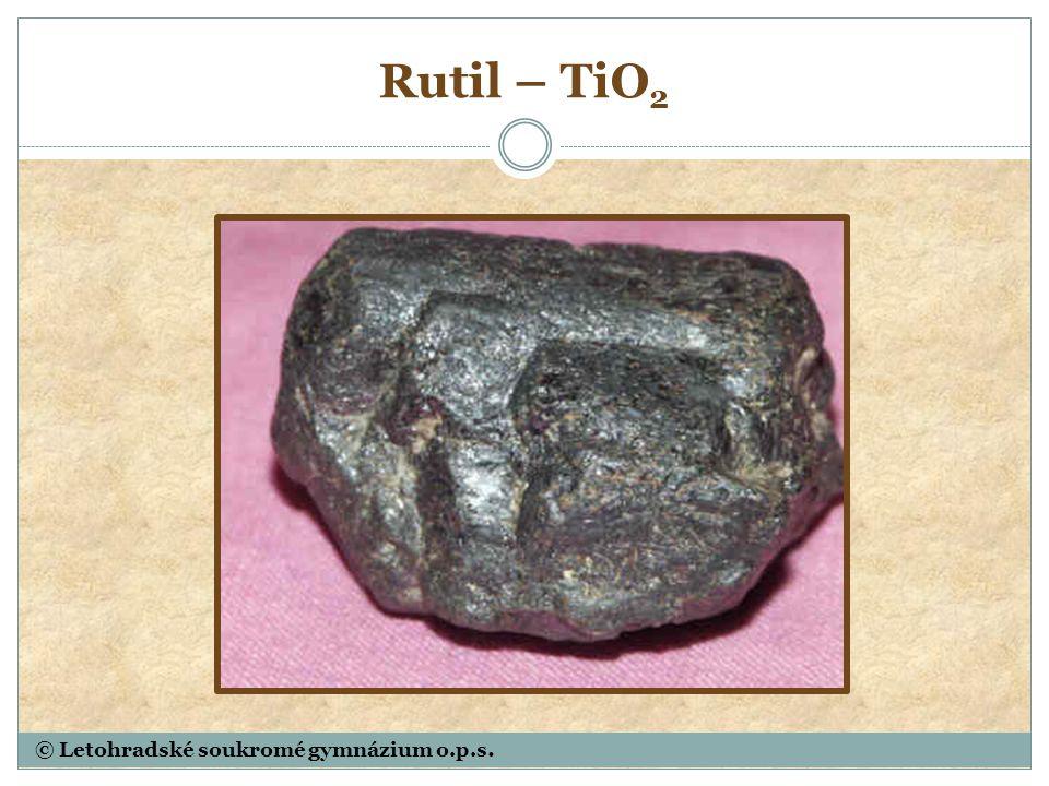 Rutil – TiO 2