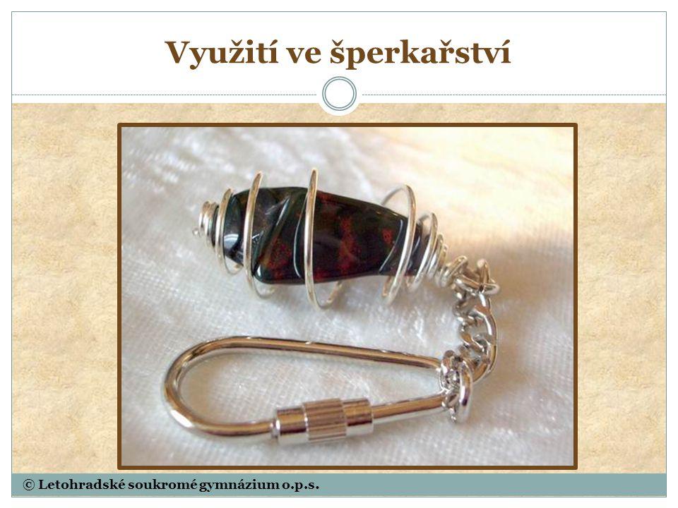 Využití ve šperkařství