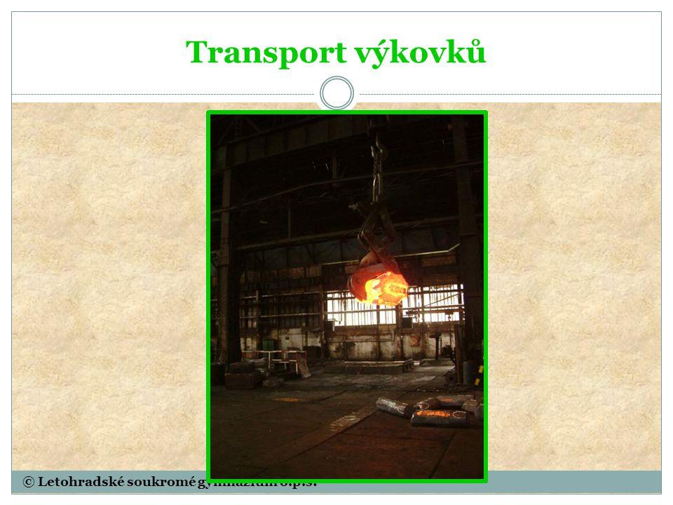 © Letohradské soukromé gymnázium o.p.s. Transport výkovků