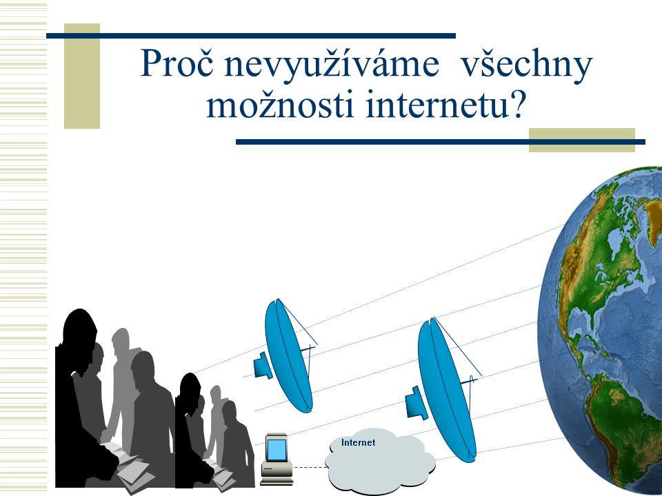 4 Proč nevyužíváme všechny možnosti internetu Internet