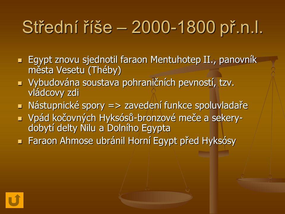 Střední říše – 2000-1800 př.n.l.
