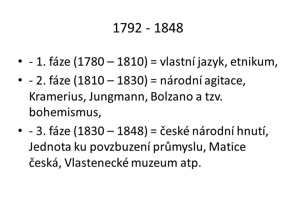 2/ Revoluce 1848 - 1849 - zahraniční revoluční události, - březen 1848 Svatováclavský výbor, Brauner → 1.