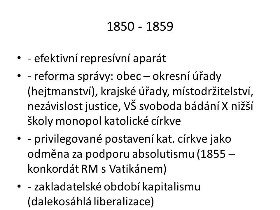 4/ Období parlamentarismu (1860 – 1871) - Nejtrvalejší dědictví 50.