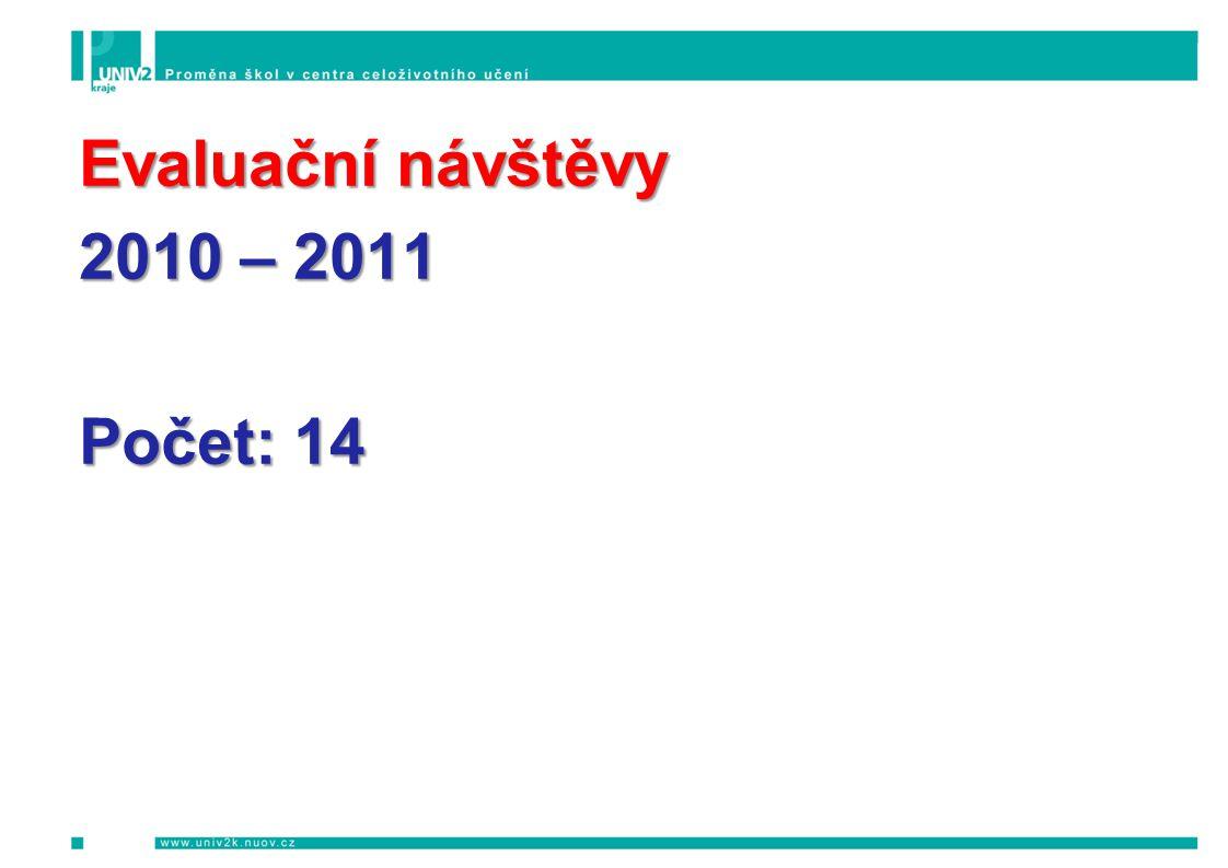 Evaluační návštěvy 2010 – 2011 Počet: 14