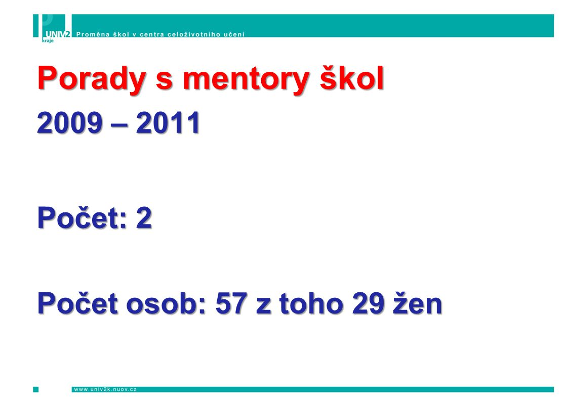 Okres Jablonec nad Nisou PODZIM 2009 Informační a motivační semináře Počet Počet osob SŠ řemesel a služeb Jablonec n.