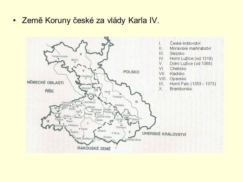 Země Koruny české za vlády Karla IV.