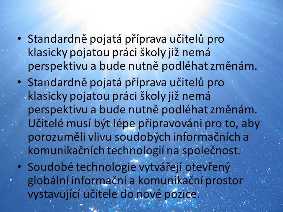 Informační společnost a vzdělávání Fenomén informace nabývá v současném světě na nebývalém významu.