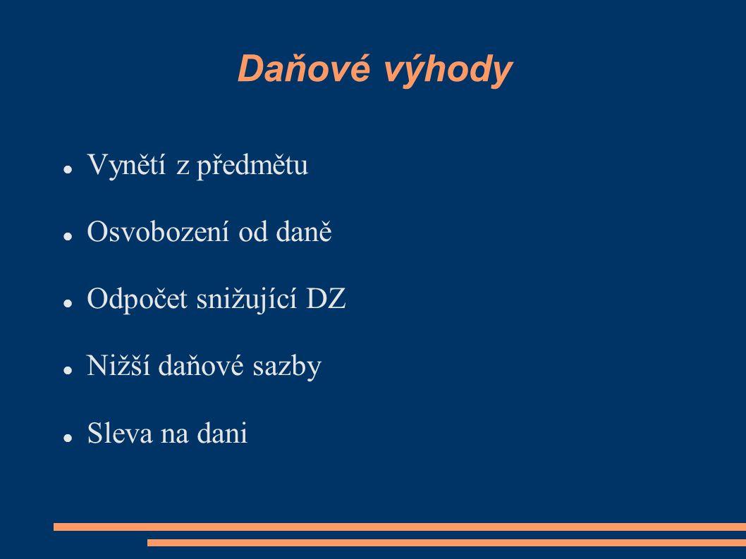 Předmět a subjekt Podle předmětu a subjektu  Podléhám dani.
