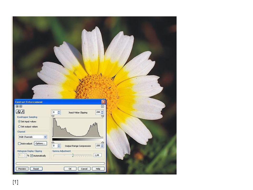 Použitý obrazový materiál [5]smial (talk).Histogramm Grünkanal zu File:Belichtung_01.jpg.