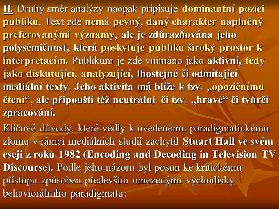 """"""" SCREEN THEORY : KRITIKA MEDIÁLNÍCH OBSAHÚ JAKO DOMINANTNÍHO TEXTU (IDEOLOGIE) Filmový žurnál Screen byl jedním z prvních odborných specializovaných médií, kde docházelo na počátku sedmdesátých let k systematické artikulaci post- strukturalistických přístupů a zvláště pak lacanovské psychoanalýzy."""