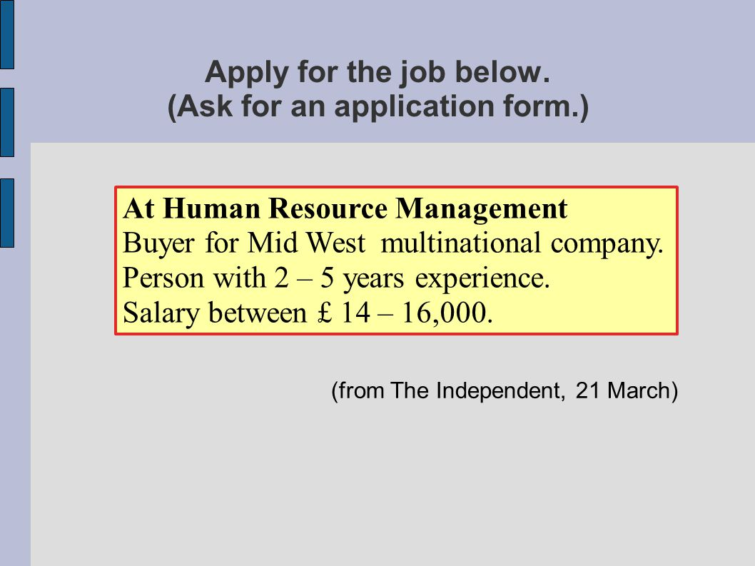 Apply for the job below.