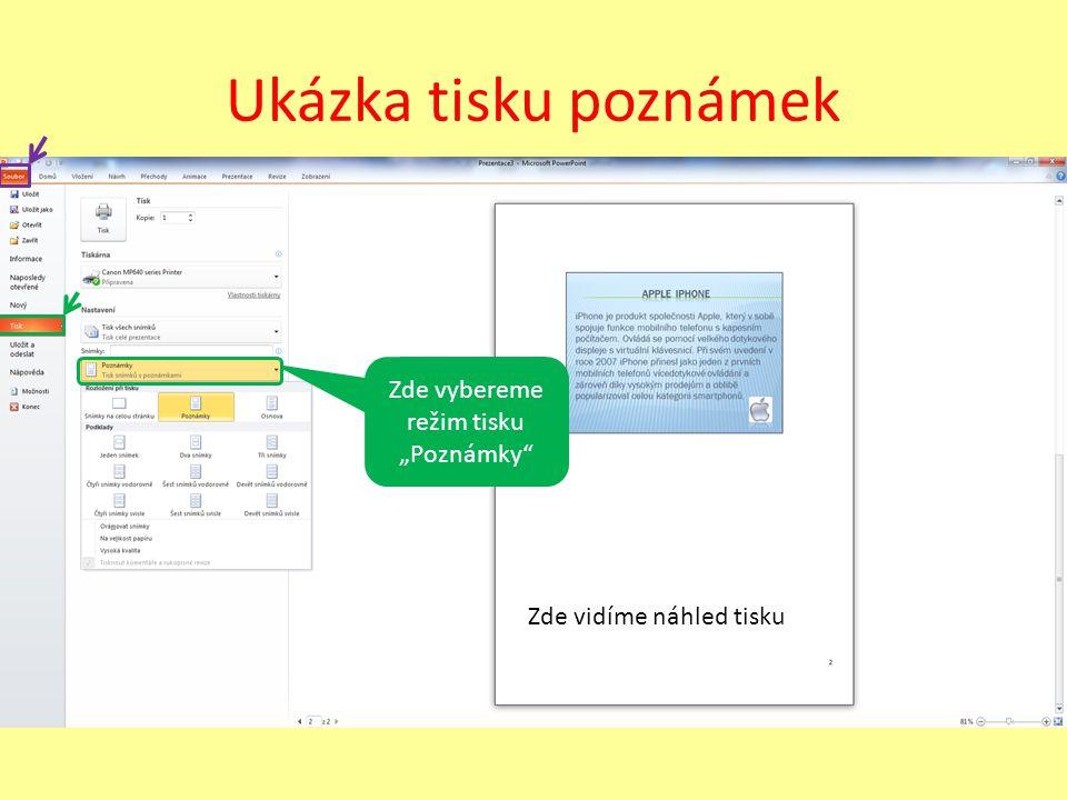 Úkol Vytvořte krátkou prezentaci, nebo ji najděte na internetu a pokuste se aspoň do tří snímků udělat pár poznámek.
