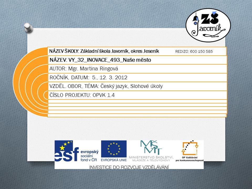 Anotace O Materiál je určen žákům 5.ročníku.
