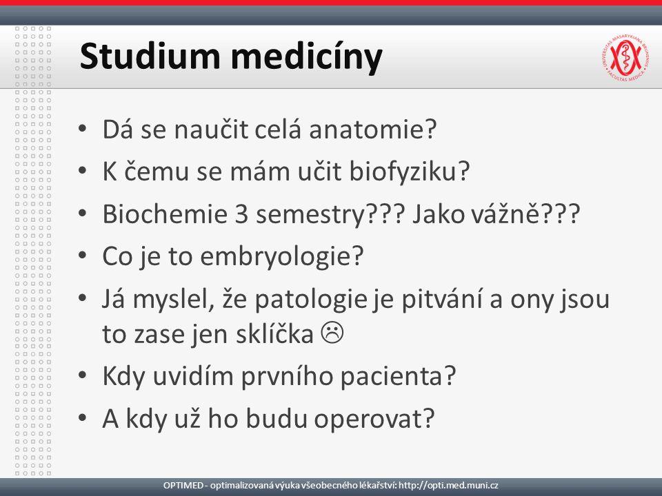 Dá se naučit celá anatomie. K čemu se mám učit biofyziku.