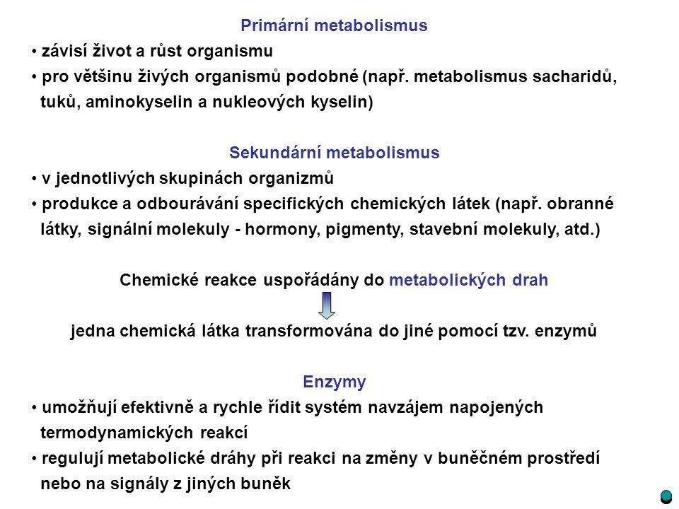 Primární metabolismus závisí život a růst organismu pro většinu živých organismů podobné (např. metabolismus sacharidů, tuků, aminokyselin a nukleovýc