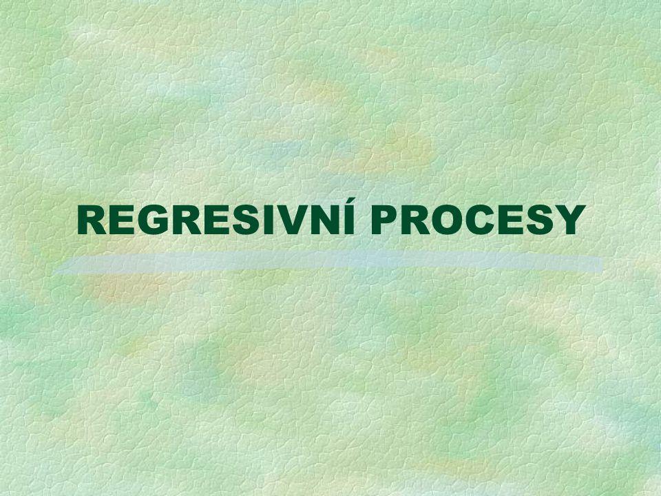 REGRESIVNÍ PROCESY