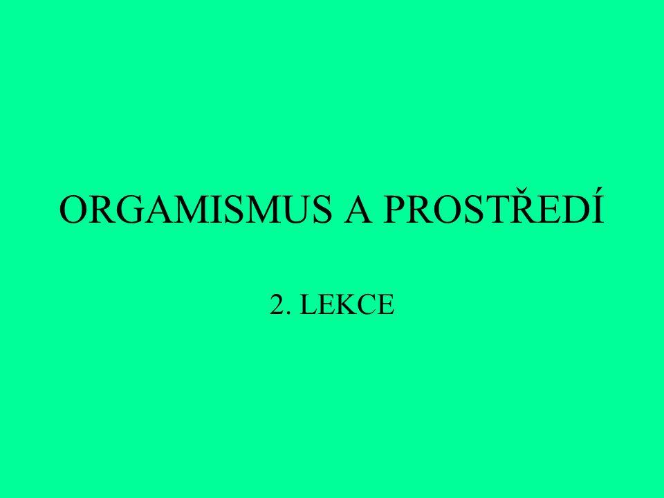 ORGAMISMUS A PROSTŘEDÍ 2. LEKCE