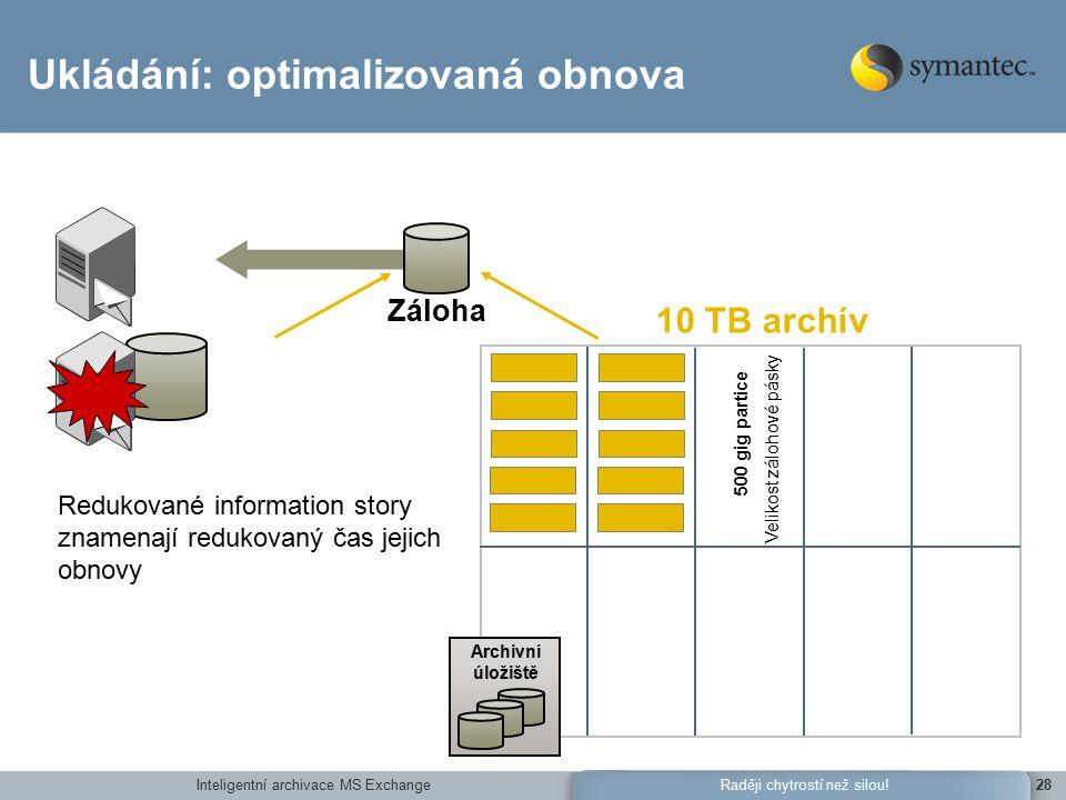 Inteligentní archivace MS Exchange28Raději chytrostí než silou.