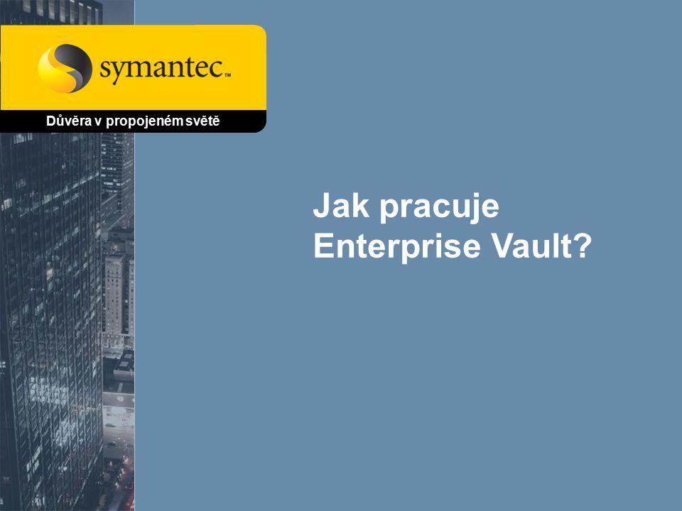 Jak pracuje Enterprise Vault Důvěra v propojeném světě